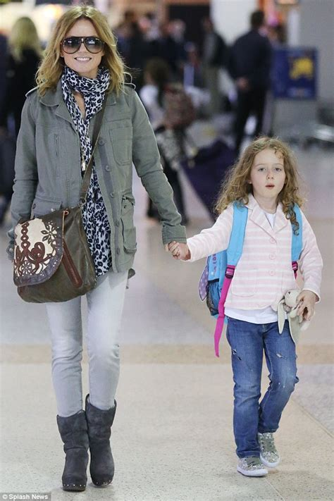 Geri Halliwell and daughter Bluebell land in Melbourne