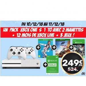 Pack console Xbox One 1 To blanche avec 2 manettes + Xbox