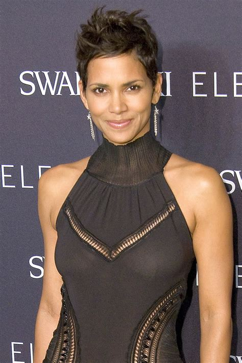 Halle Berry Revealing In Skin Tight See-Through Dress
