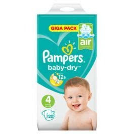 Couche Pampers taille 4 Baby Dry pas chère (x120) - Maison