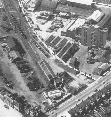 Stratford on Avon Station: A 1960s aerial view of the