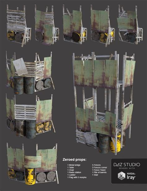 Post-Apocalyptic World: The Outpost   3D Models for Poser