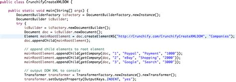 Java: Simple Way to Write XML (DOM) File in Java • Crunchify