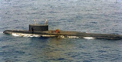 Soviet nuclear submarine carrying nuclear weapons sank