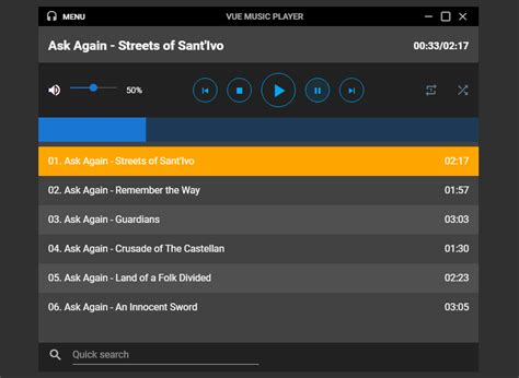 Build a Music Player With Vuetify - Medianic