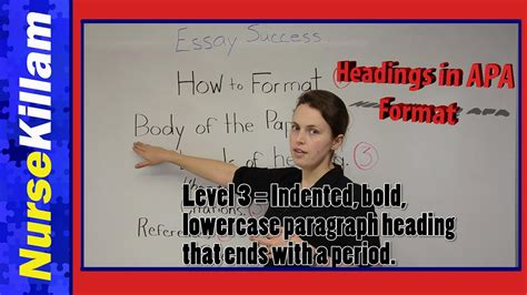 Levels of heading in APA format 6th edition - YouTube