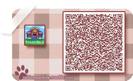 Town Hall sign | Animal crossing important qr codes