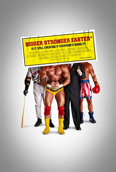 """Movie Posters for Steroid Documentary """"Bigger Stronger"""