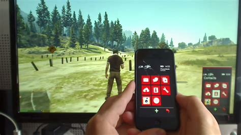 Watch GTA 5's virtual smartphone controlled with a real