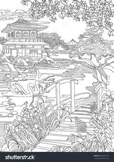 Japan coloring pages Shutterstock : 427885498 | coloring