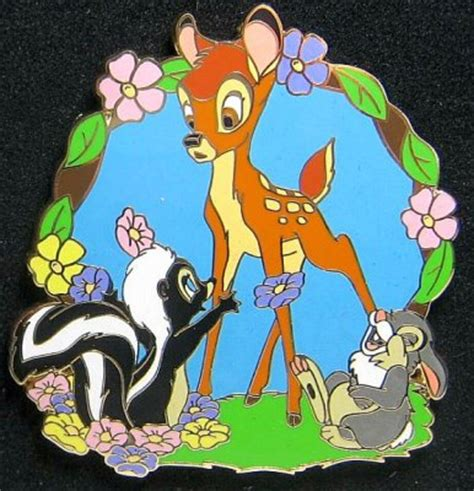 Bambi with Thumper and Flower pin from our Pins collection