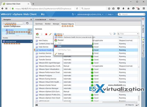 VMware VCSA - How to check running services