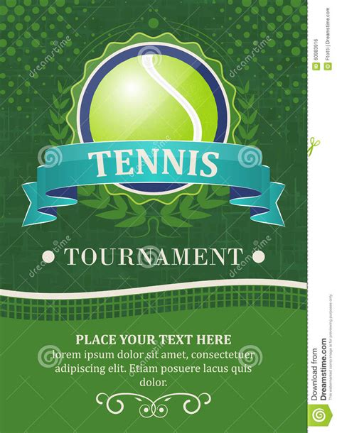 Tennis Tournament Background Or Poster