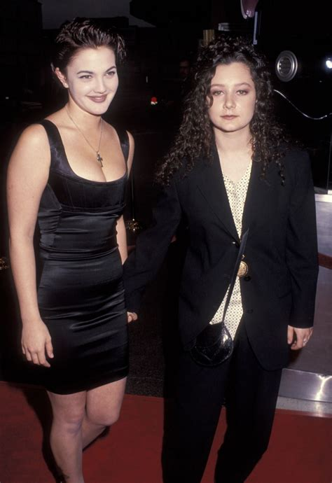 Drew Barrymore and Sara Gilbert at the premiere of Poison