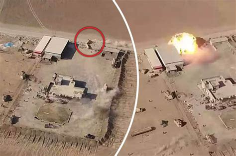 Incredible drone footage shows botched ISIS car bomb