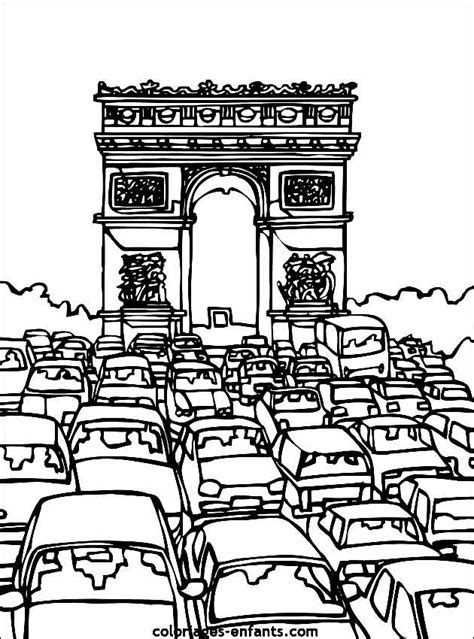 Monuments arc triomphe 2 - Coloriage de Monuments
