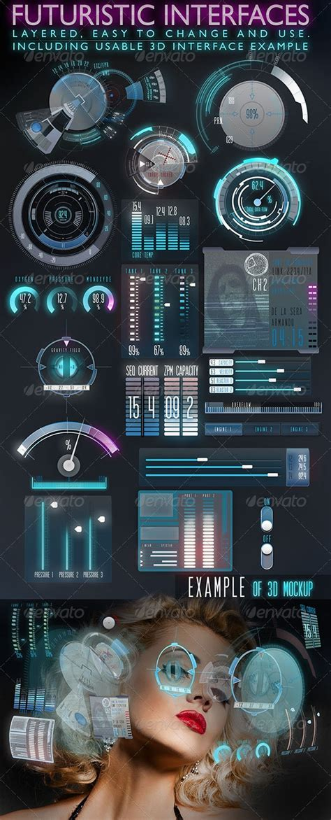 Futuristic Interface (HUD) by scarab13   GraphicRiver