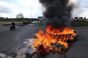 France riots over labour laws sees a Porsche go up in