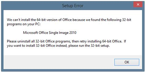 [SOLVED] Office x64 vs x32 Won't Install - MS Office