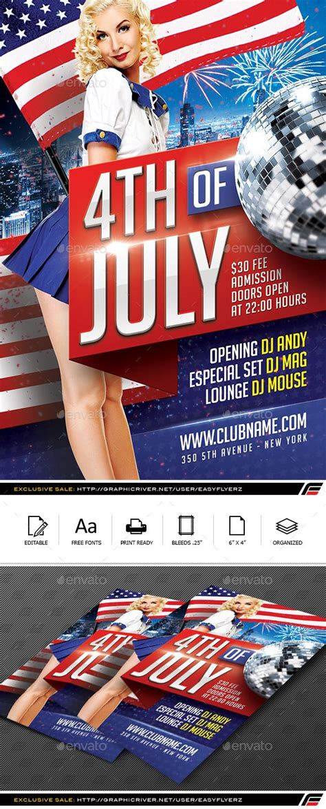 4TH of July Flyer Template Vol