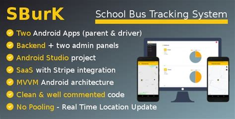 SBurK – School Bus Tracker – Two Android Apps + Backend