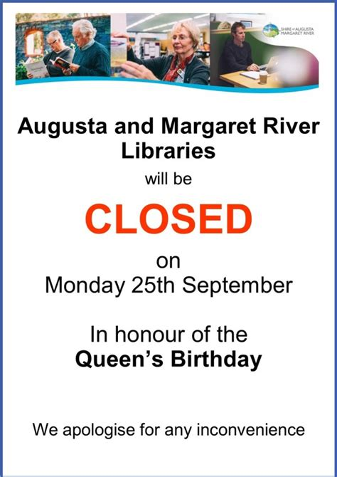 Libraries CLOSED for Public Holiday on Monday 25th