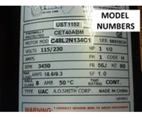 How to Read an AO Smith Pool Motor Label - INYOPools