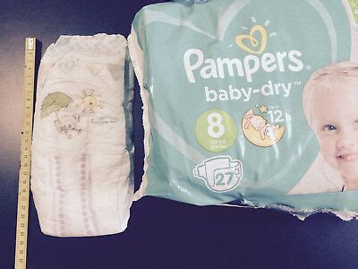 Pampers baby dry taille 8, 1 couche XXL adult baby ABDL