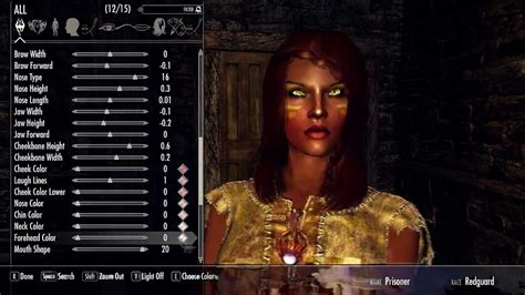 Skyrim Character Creation - Let's make a Redguard! - YouTube