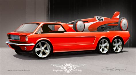 Mustang hauler and streamliner | Concept cars, Mustang