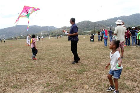Kites take to the sky at Queen's Park Savannah