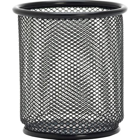 Lorell Mesh/Wire Pencil Cup Holder - Black - LD Products