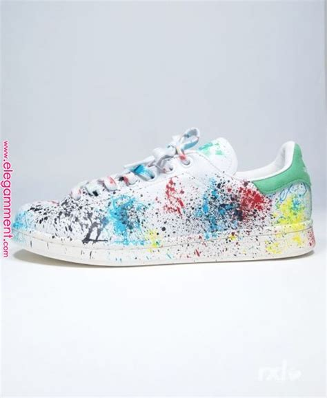 Adidas Original Stan Smith RXL Custom Paint Stains | Shoes