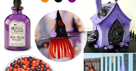 Orange, Purple and Black Halloween Party Ideas - Party