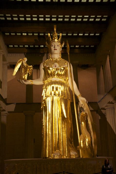 Golden Statue of Athena | Inside the Parthenon in