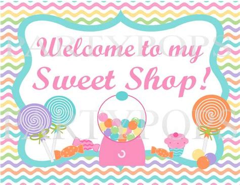 Items similar to Digital Sweet Shop Party, Sweet Shop