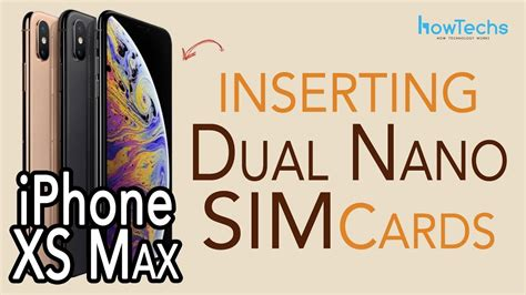 iPhone XS Max - How to insert and remove Dual SIMs