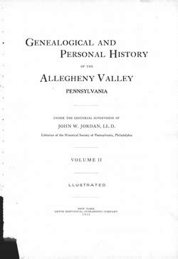 Genealogical and personal history of the Allegheny Valley